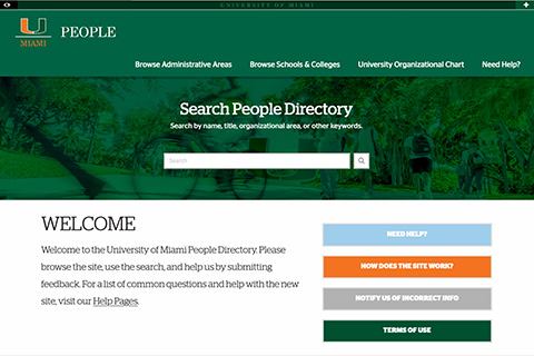 University of Miami People Directory