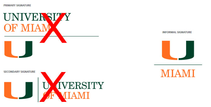 Logo And Masthead Signatures On The Web Web And Digital University Of Miami