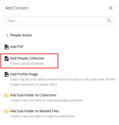 Add People Collection