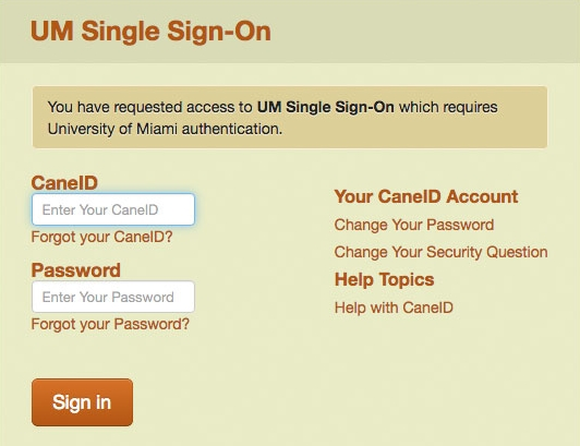 UM Single Sign-On